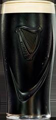 Guinness Pint Back Black