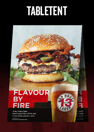 Flavour by Fire Burger - Table Tent
