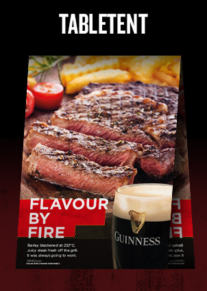 Flavour by Fire Steak - Table Tent