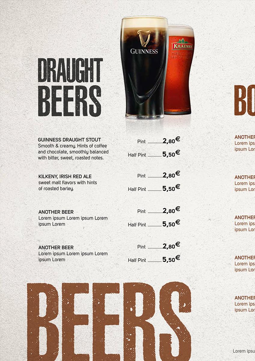 Menu: Draught Beers