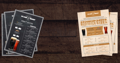 Great looking menus