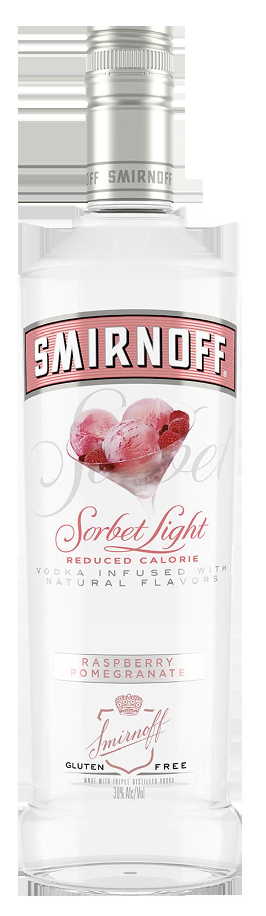 SMIRNOFF SORBET LIGHT RASPBERRY POMEGRANATE