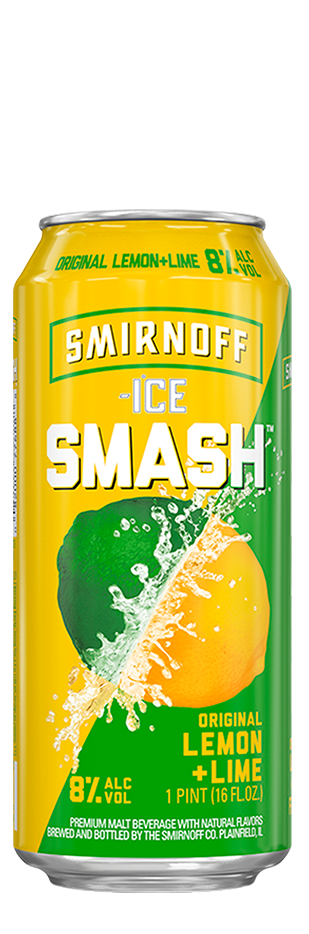 SMIRNOFF ICE SMASH LEMON + LIME