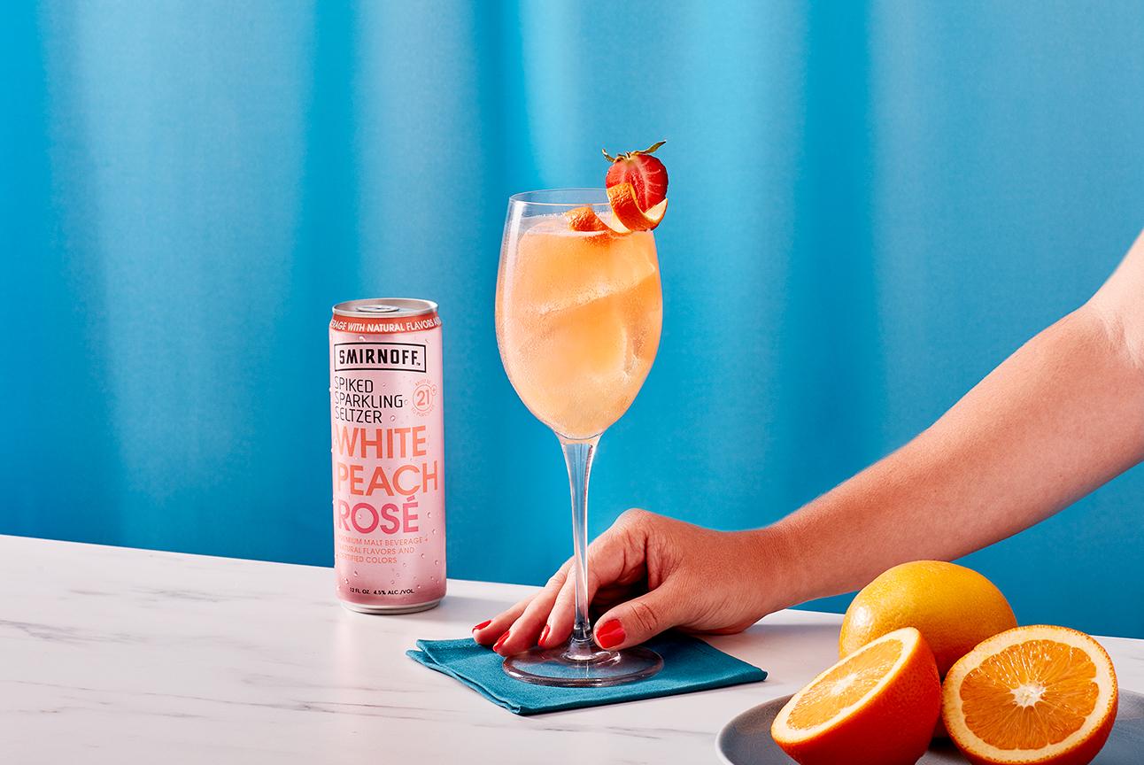 Smirnoff Seltzer White Peach Bellini