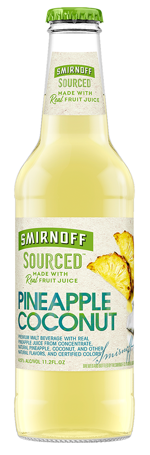 SMIRNOFF SOURCED PINEAPPLE COCONUT