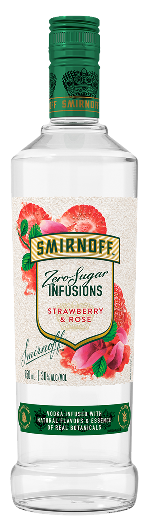 SMIRNOFF ZERO SUGAR INFUSIONS STRAWBERRY & ROSE