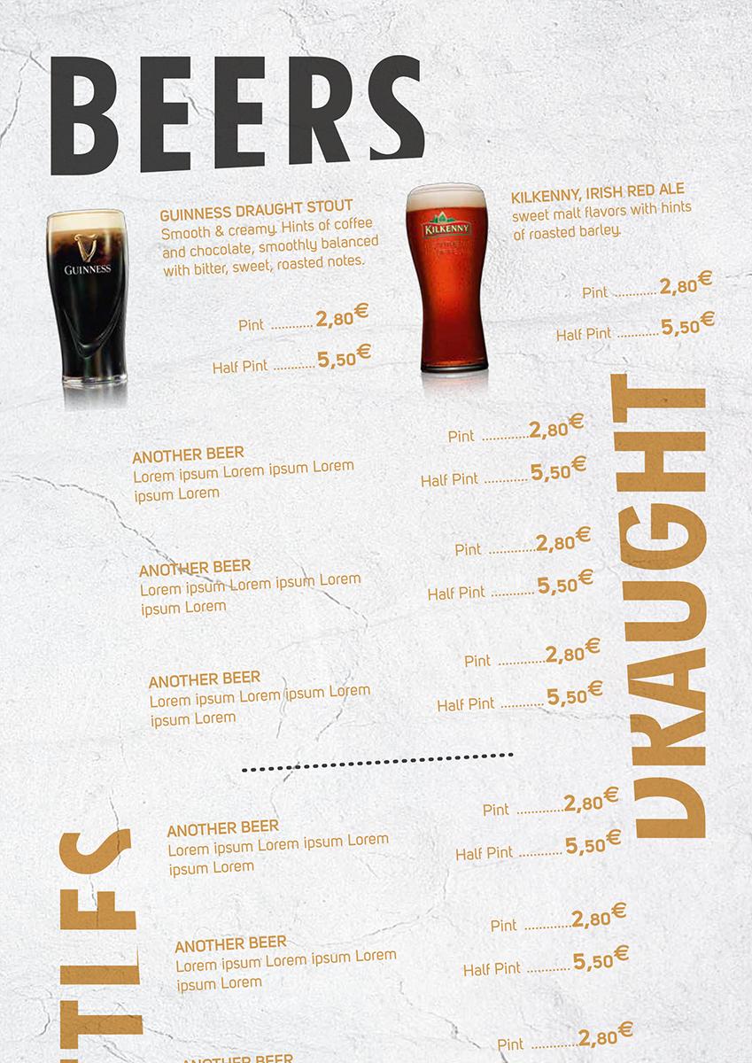 Menu: Beers